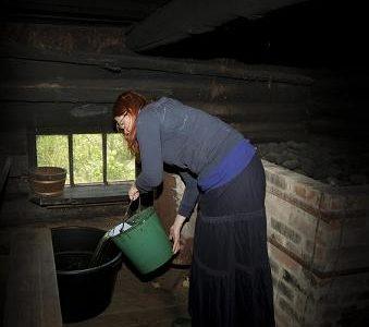 Sauna vee viimine